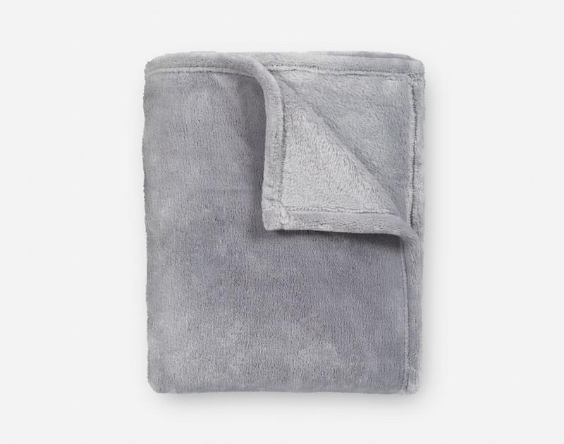 Velveteen Fleece Throw - Grey Mist