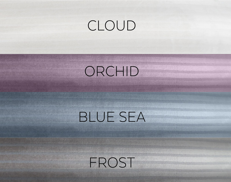 Striped Fleece Blanket is also available in Cloud, Orchid, and Frost.