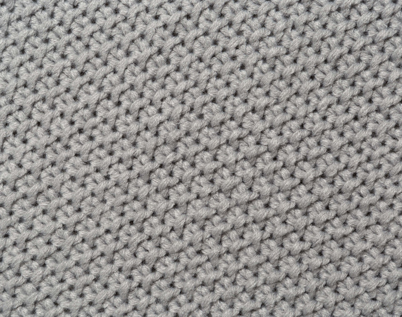 Close up of knit weave.