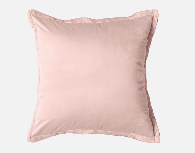 Velvet Euro Sham in Rose Smoke, a smokey pink.