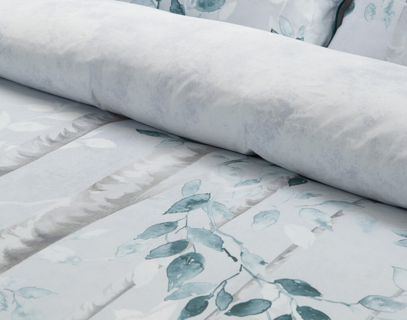 Close up of rolled over duvet cover