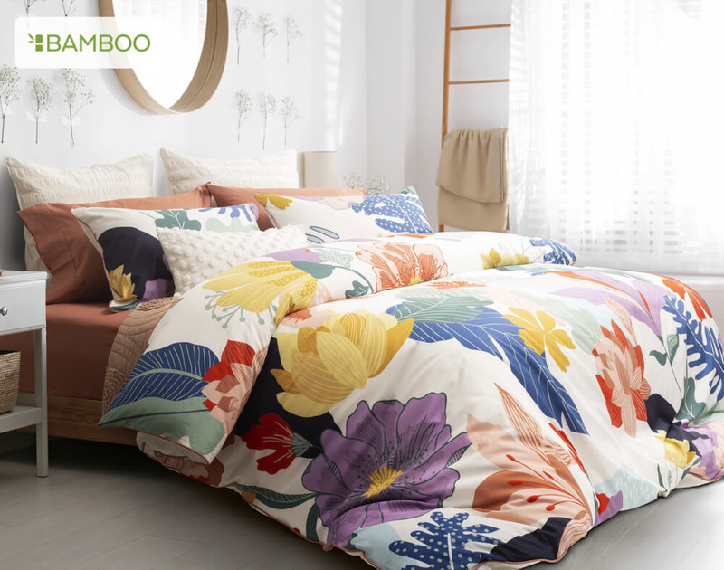 Baja Bedding Collection, side view.