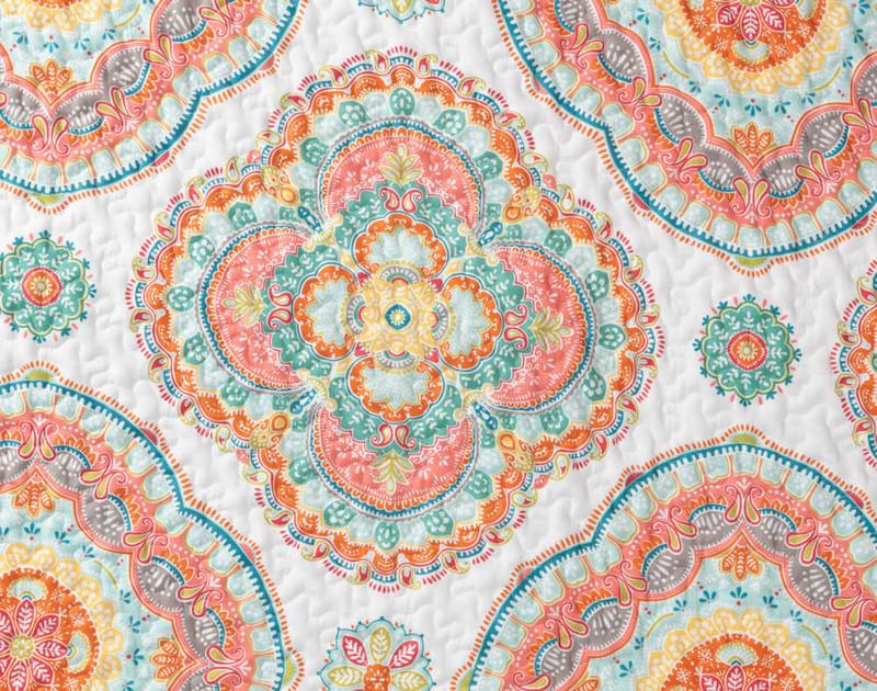 Close up of mandala print.