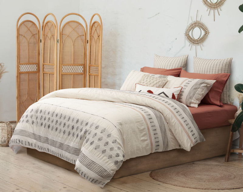 Gibson Bedding Collection, side view.