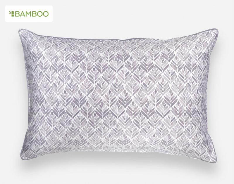 Grey pattern reverse of the Bergen Pillow Sham
