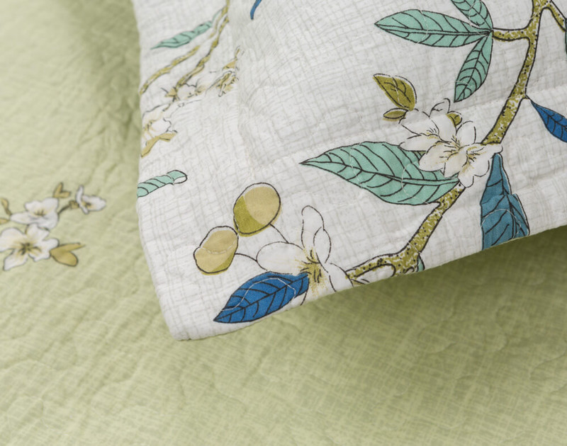 Close up detail on Josette pillow sham