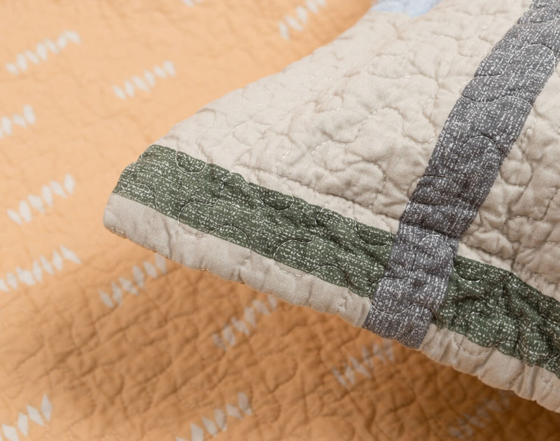 Close up detail on Simco pillow sham