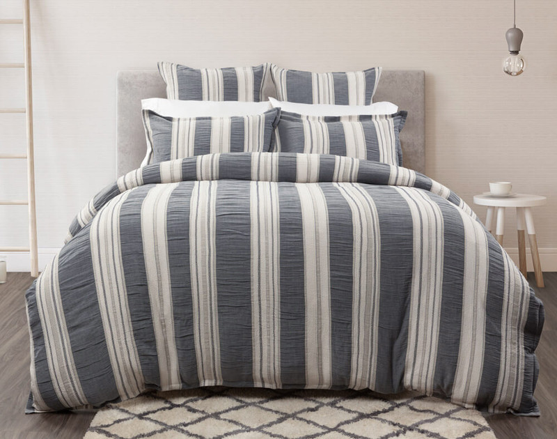 Truro Duvet Cover, in off-white room front view