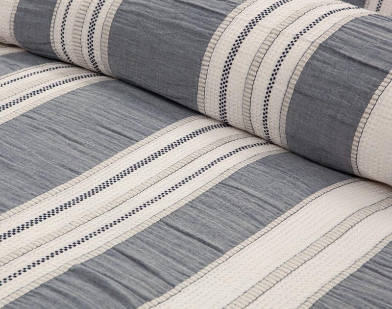 Truro Duvet Cover, close-up of striped pattern