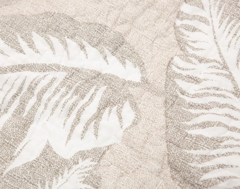 Close up of rattan leaf print.