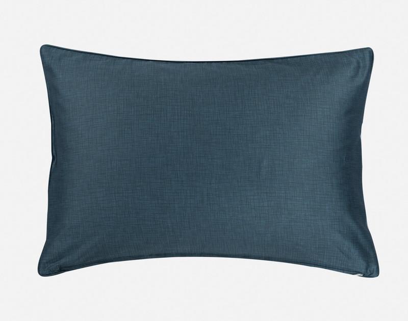 Close-up of our Alps Pillow Sham's dark reverse.