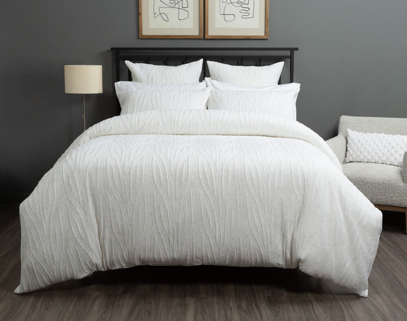 Front view of the Everley Duvet Cover and Bedding Collection