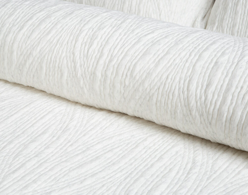 Close-up of the textured cotton pattern on the Everley Duvet Cover