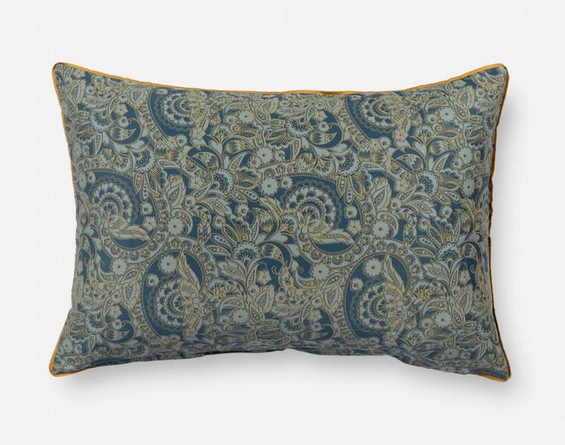 Close-up of Charisma Pillow Sham's paisley reverse.