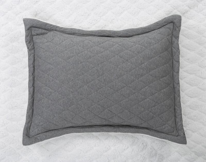 Chevron Jersey Quilt Set Pillow Sham with flanged edges.
