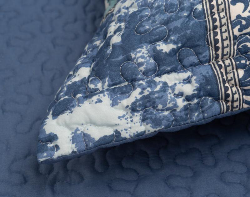 Close up of Talia Pillow Sham flange.