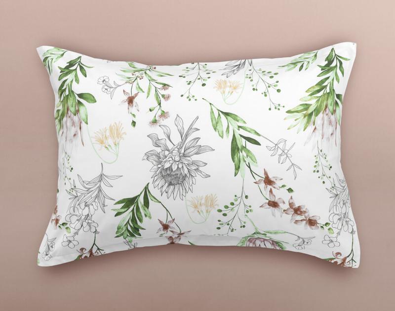 Duet Duvet Pillow Sham, shown on the reverse side of the duvet cover