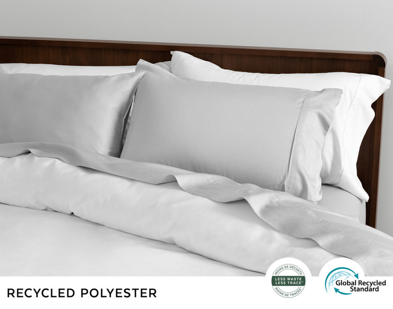 Recycled Polyester Sheet Set - Grey