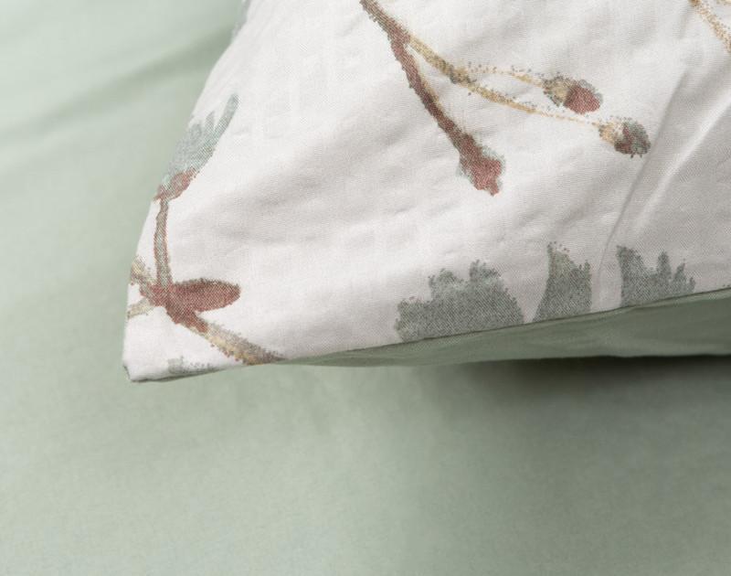 Shawnigan comforter set, detail of pillowcase.