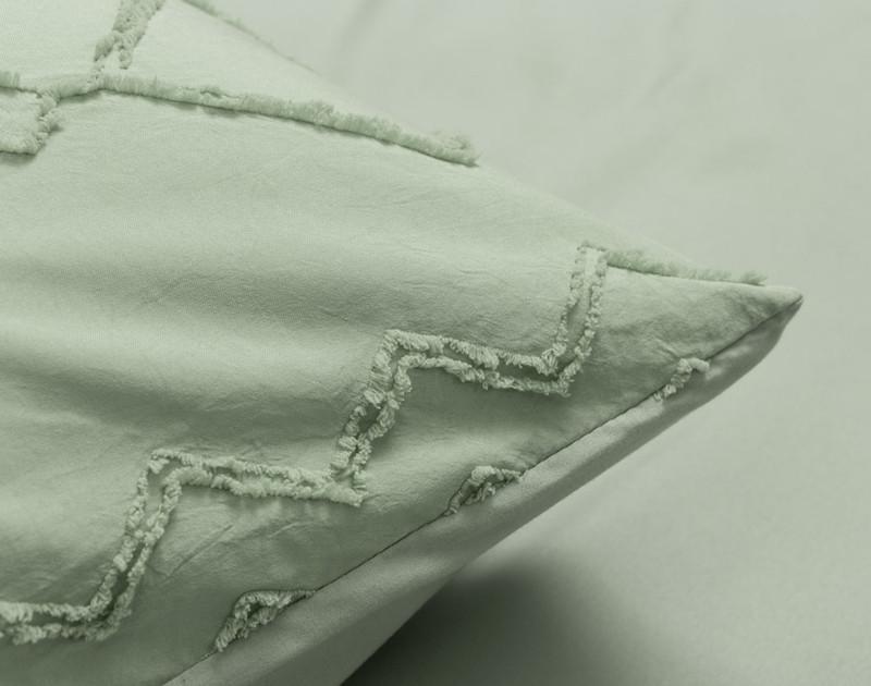 Kalista Jade pillow sham detail