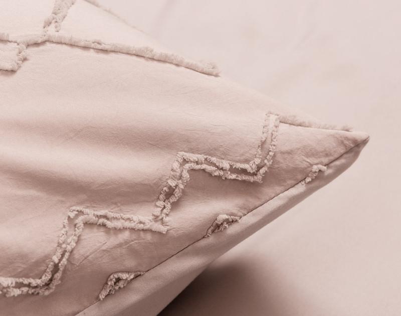 Kalista Rose Smoke pillow sham detail