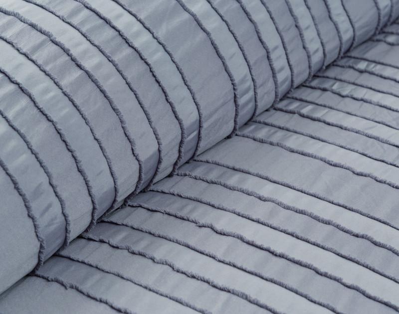 Recycled Polyester Clipped Jacquard Comforter Set - Maran Denim **