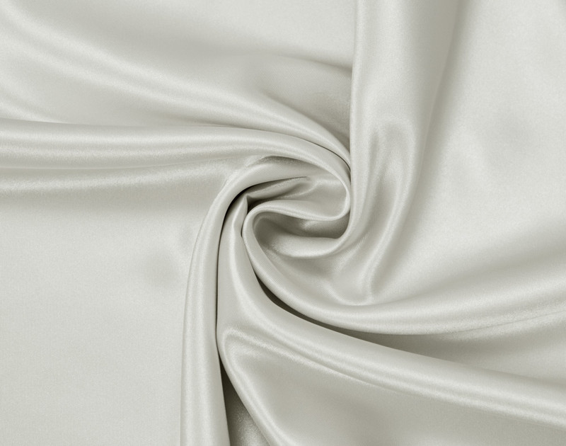 Close-up of Pearl Satin Pillowcase with fabric curved