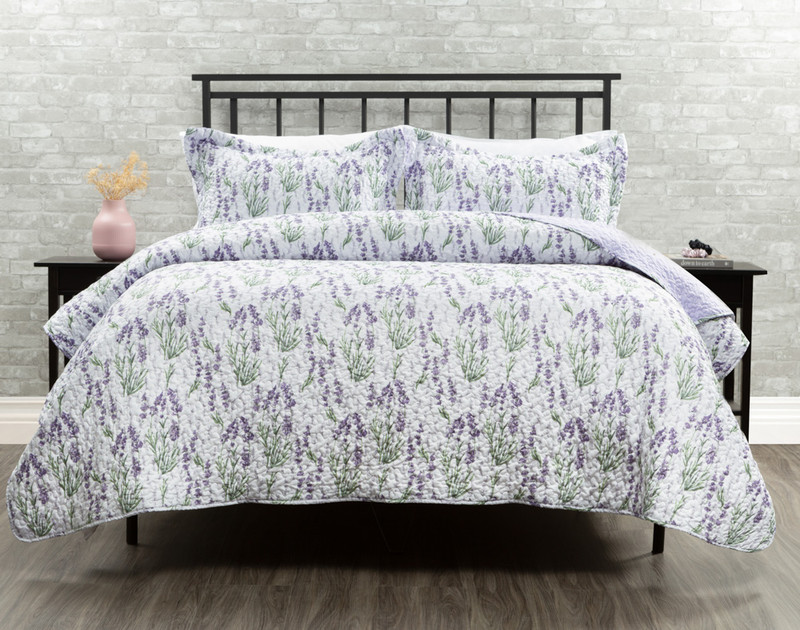 Beth Duvet Cover in shades of whites and purples