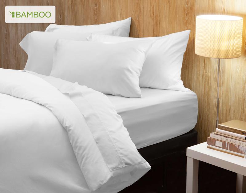 Bamboo Cotton Sheet set in White