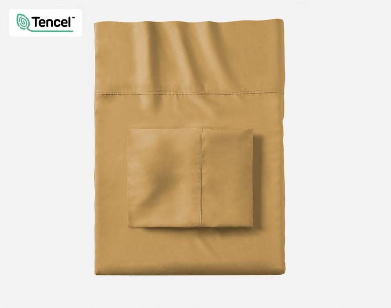 Honey Gold BeechBliss TENCEL™ Modal Pillowcases folded flat
