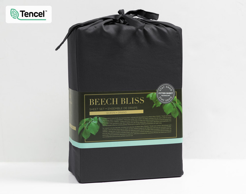 Fabric packaging for Shale BeechBliss TENCEL™ Modal Sheet Set