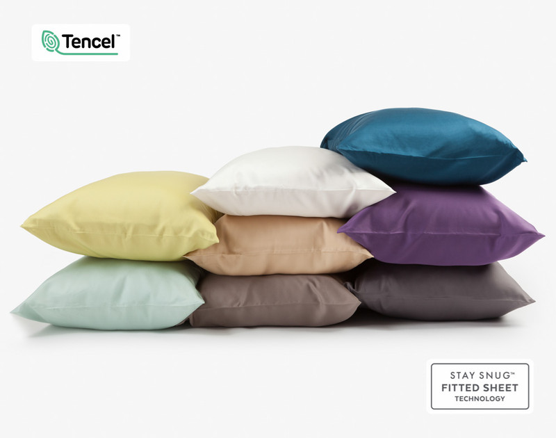 Various BeechBliss TENCEL™ Modal Pillowcases stacked together