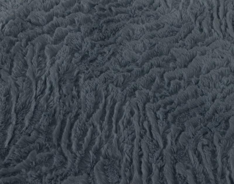 Close up of texture on Thundercloud Faux Rabbit Plush Comforter Set.
