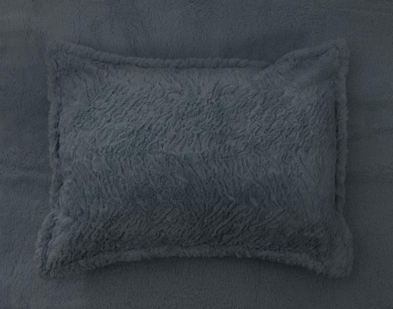 Thundercloud Faux Rabbit Plush Pillow Sham.