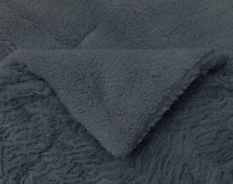 Thundercloud Faux Rabbit Plush Comforter Set reverses to an ultra soft sherpa.
