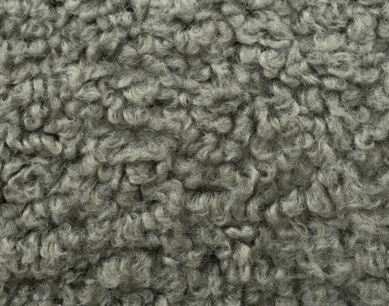 Close-up of the soft texture on our Boucle Euro Sham in Tea.