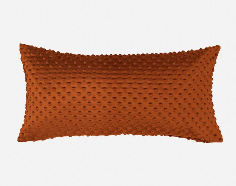 Our Nubby Velvet Boudoir Pillow Cover in Copper.
