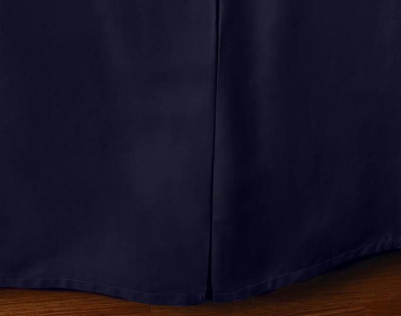 Cotton Blend Bedskirt in Indigo.