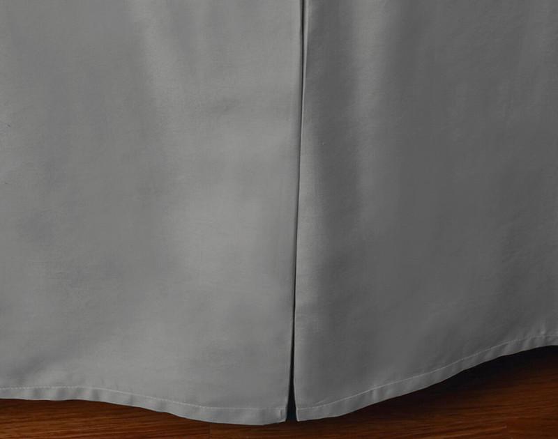 Cotton Blend Bedskirt in Steel.