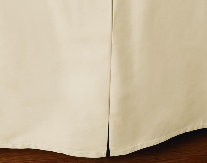 Cotton Blend Bedskirt in Cloud.