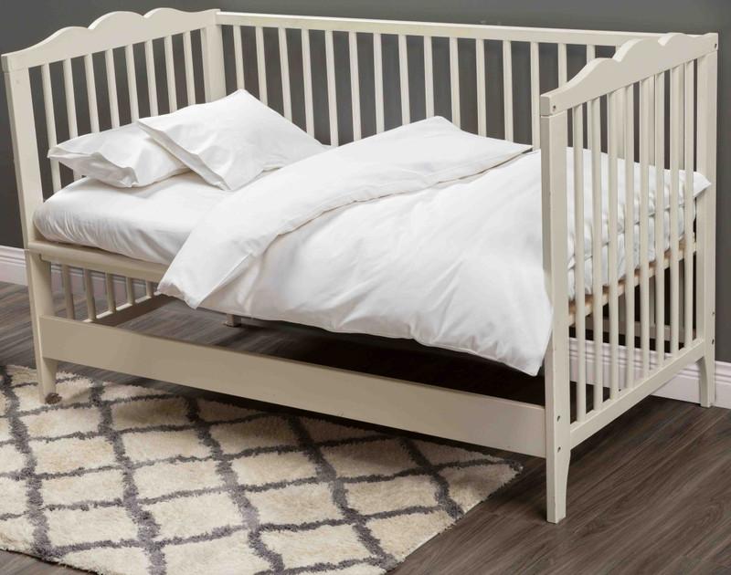 Bamboo Cotton Crib-Sized Duvet Cover - White