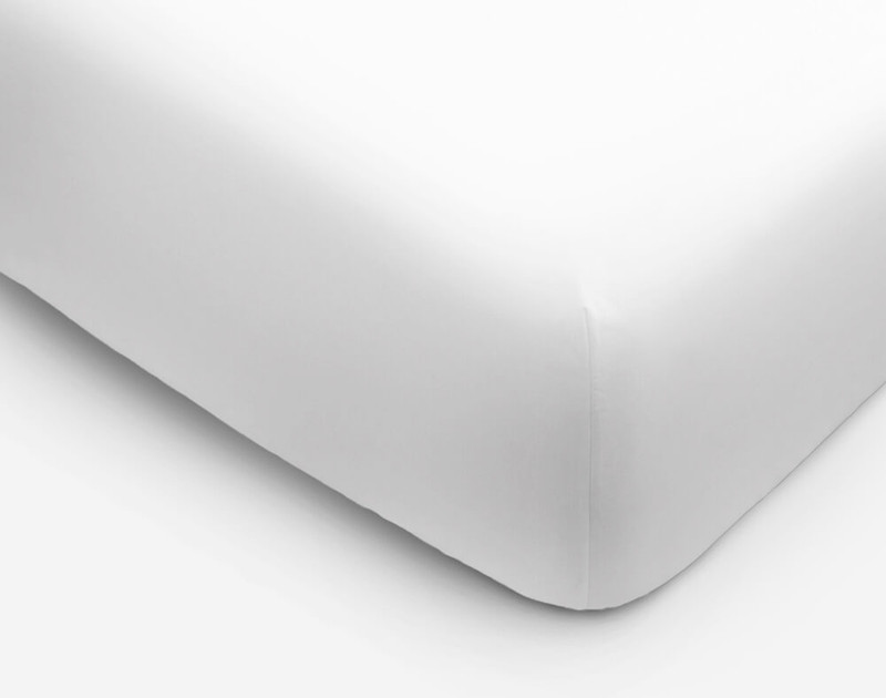 Corner view of Cotton Blend Percale Fitted Sheet.