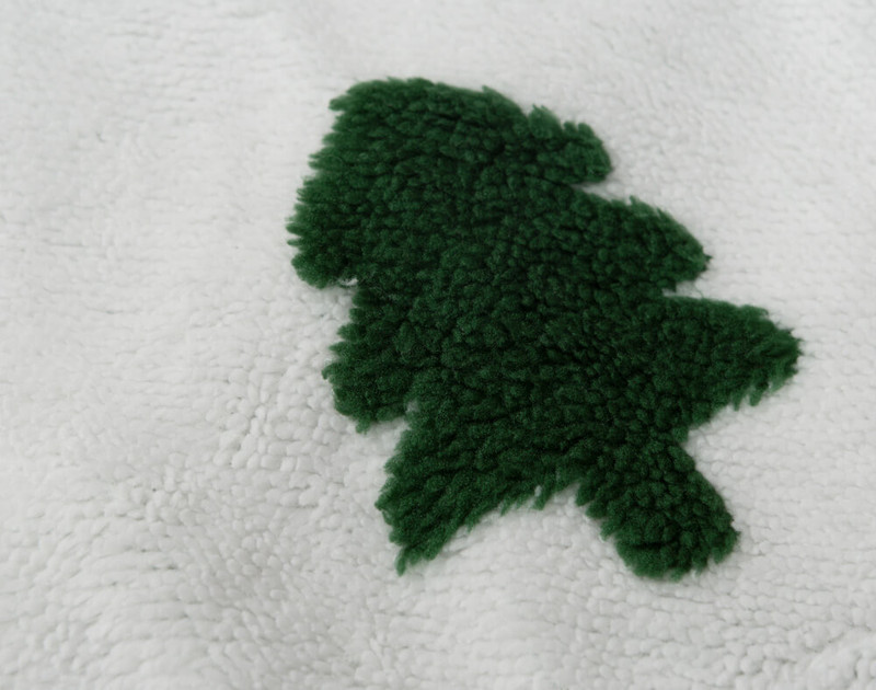 Close-up of tree on Tree Time Holiday Sherpa Throw.