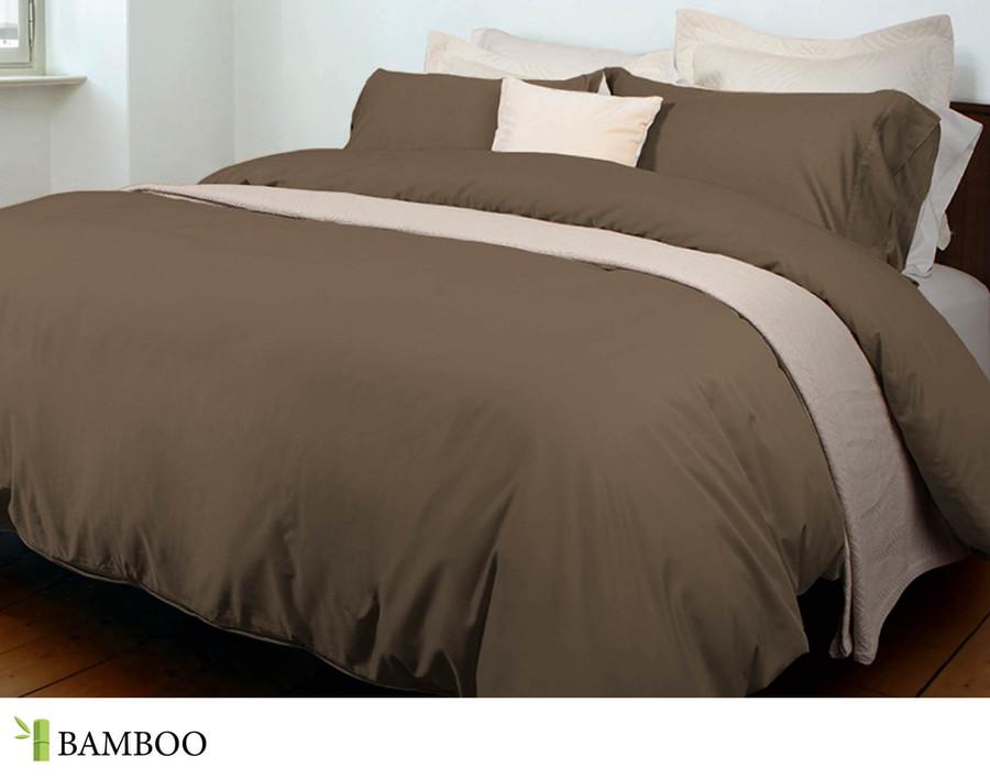 Bamboo Cotton Duvet Cover - Mocha