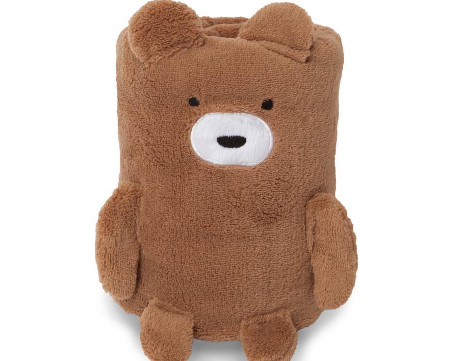 Cuddle Buddies - Baby Animal Fleece Blankets - Bear
