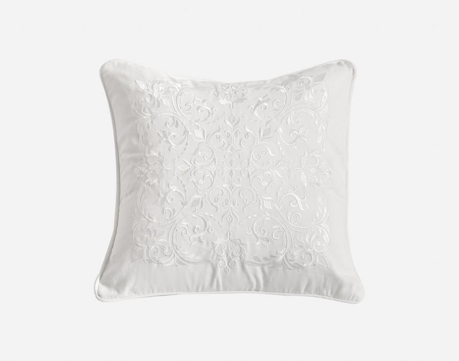 Astoria Square Cushion Cover, white cushion cover.
