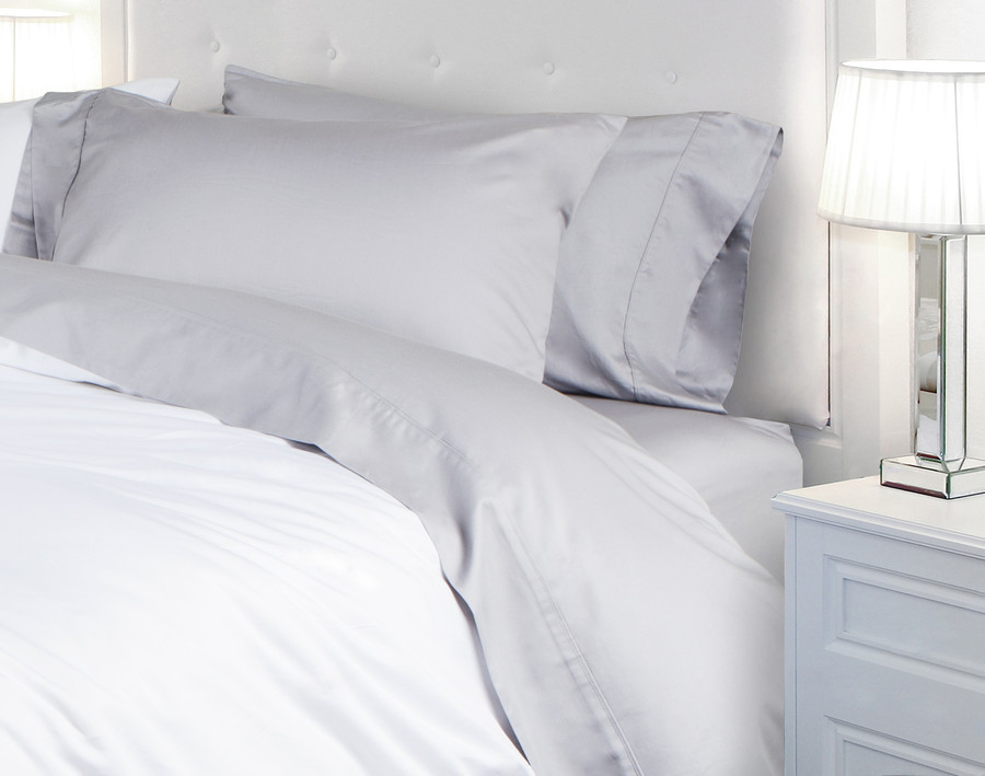 620TC Cotton Sateen Sheet Set in Silver (Extended Sizes Available)
