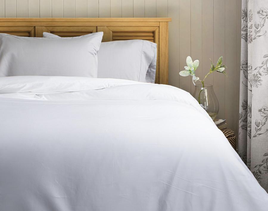 620TC Cotton Sateen Duvet Cover - White
