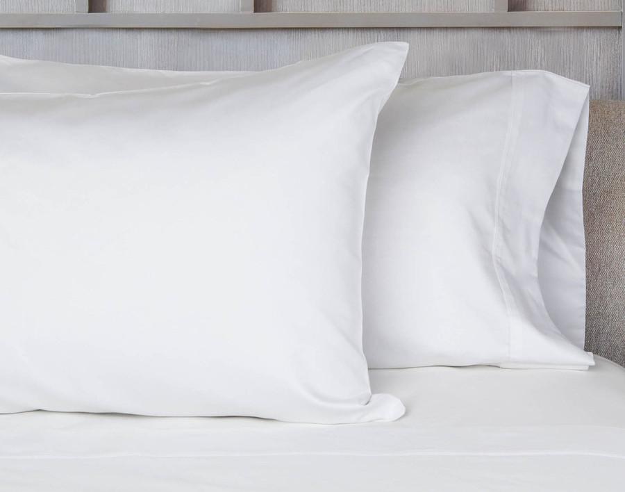 620TC Cotton Sateen Pillowcase - White
