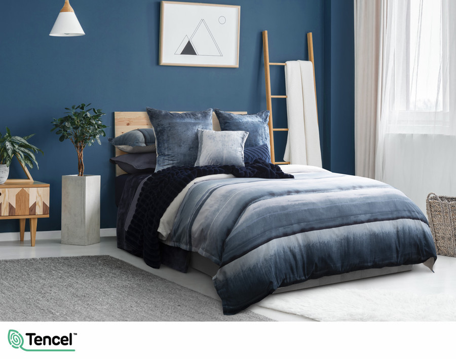 Ultramarine Duvet Cover in a blue bedroom